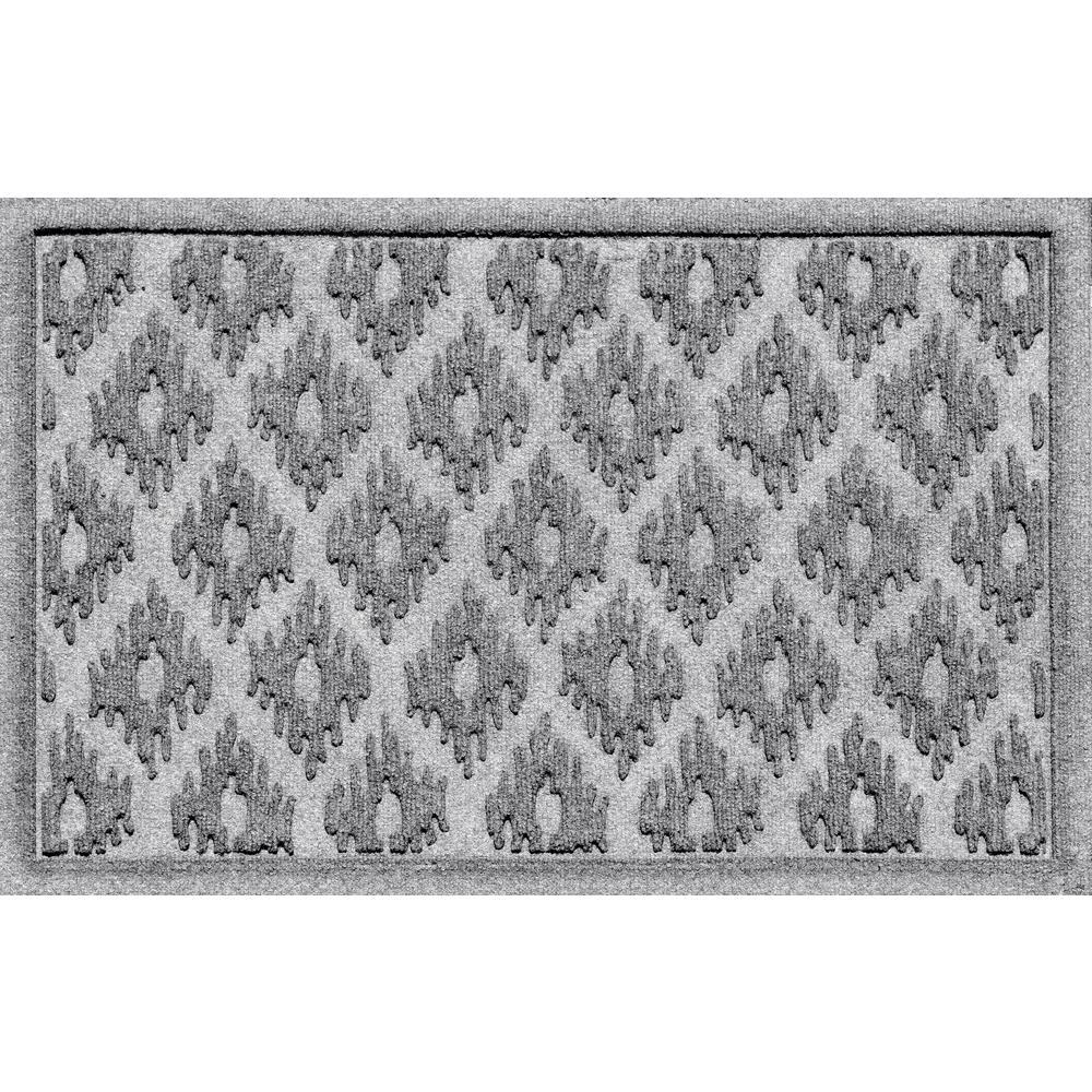 Ikat Medium Gray 24 in. x 36 in. Polypropylene Door Mat
