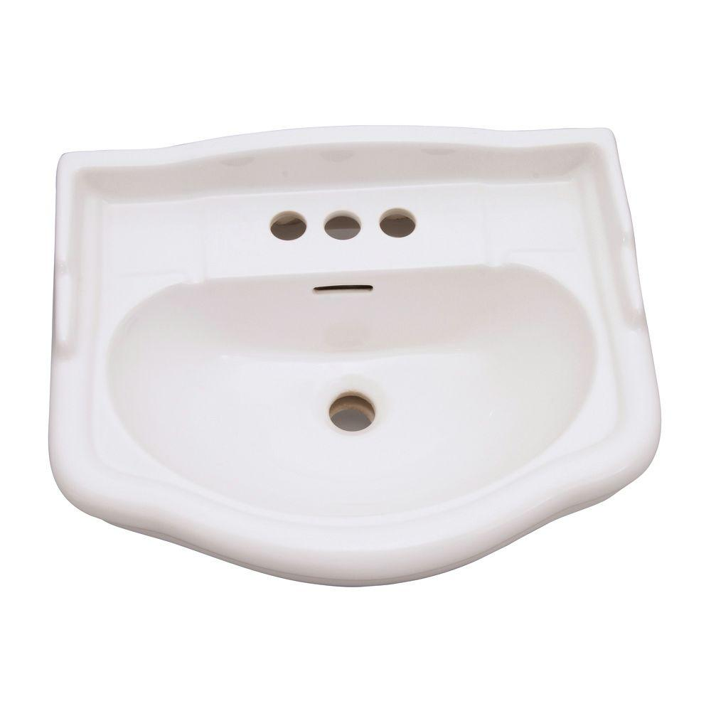 Barclay Products English Turn Pedestal Basin Only in Bisque