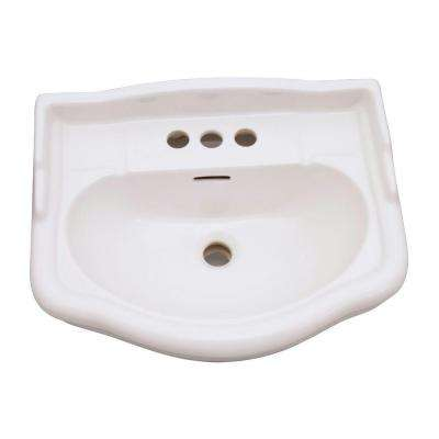 English Turn Pedestal Basin Only in Bisque