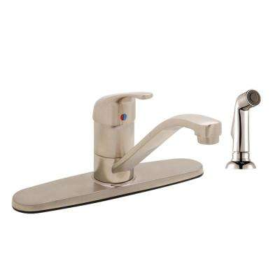 Brushed Nickel 4 Hole Kitchen Faucets The