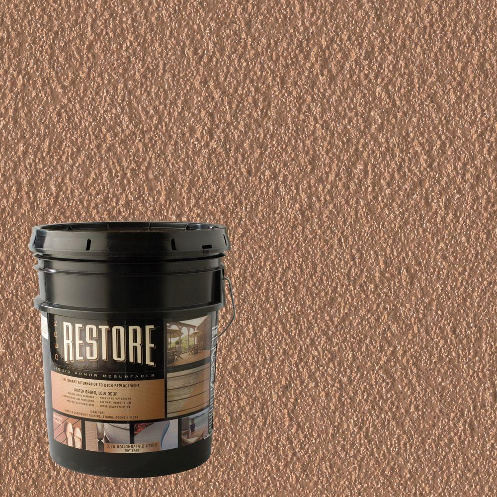 Restore Deck Liquid Armor Resurfacer 4 gal. Water Based Cedar Exterior Coating