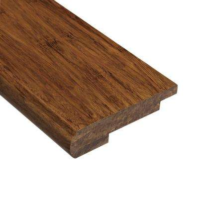 Strand Woven Saddle 9/16 in. Thick x 3-1/2 in. Wide x 78 in. Length Bamboo Stair Nose Molding