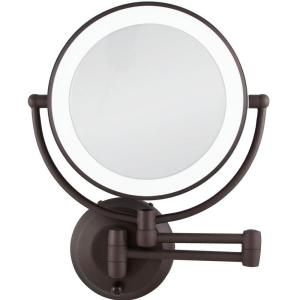 Zadro 15 inch L x 12 inch W LED Lighted Wall Mirror in Oil-Rubbed Bronze by Zadro