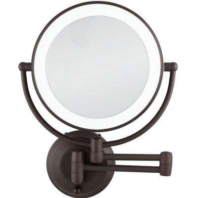 15 in. L x 12 in. W LED Lighted Wall Makeup Mirror in Oil-Rubbed Bronze