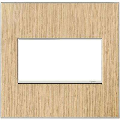 2-Gang 2 Module Wall Plate, French Oak
