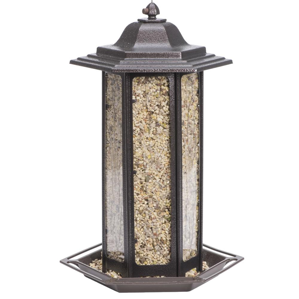 6 lb. Tall Tulip Garden Lantern Bird Feeder