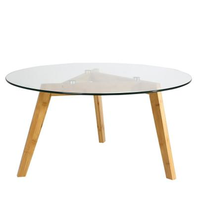 Costanoa Clear/Natural Glass Coffee Table