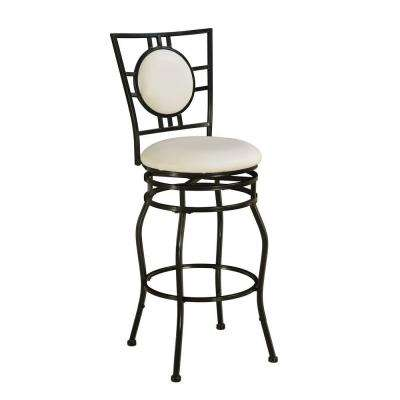 Townsend Adjustable Height Black Cushioned Bar Stool