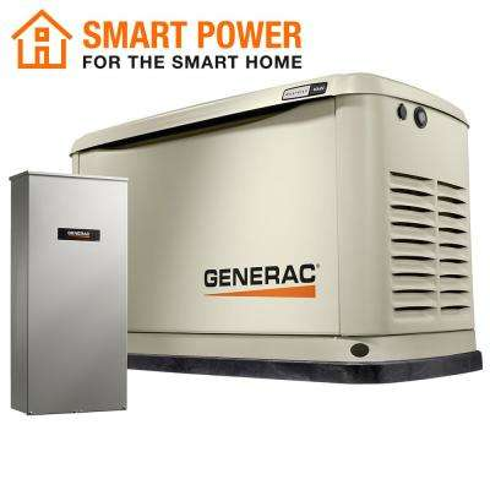 16000-Watt (LP)/16000-Watt (NG) Air-Cooled Standby Generator with Wi-Fi and 16 Circuit 100 Amp NEMA3 Transfer Switch