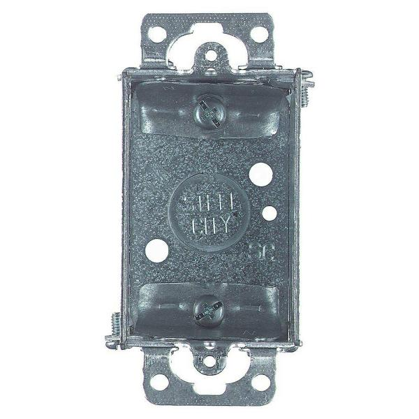 1-Gang Metal Old Work Electrical Switch Box (Case of 25)