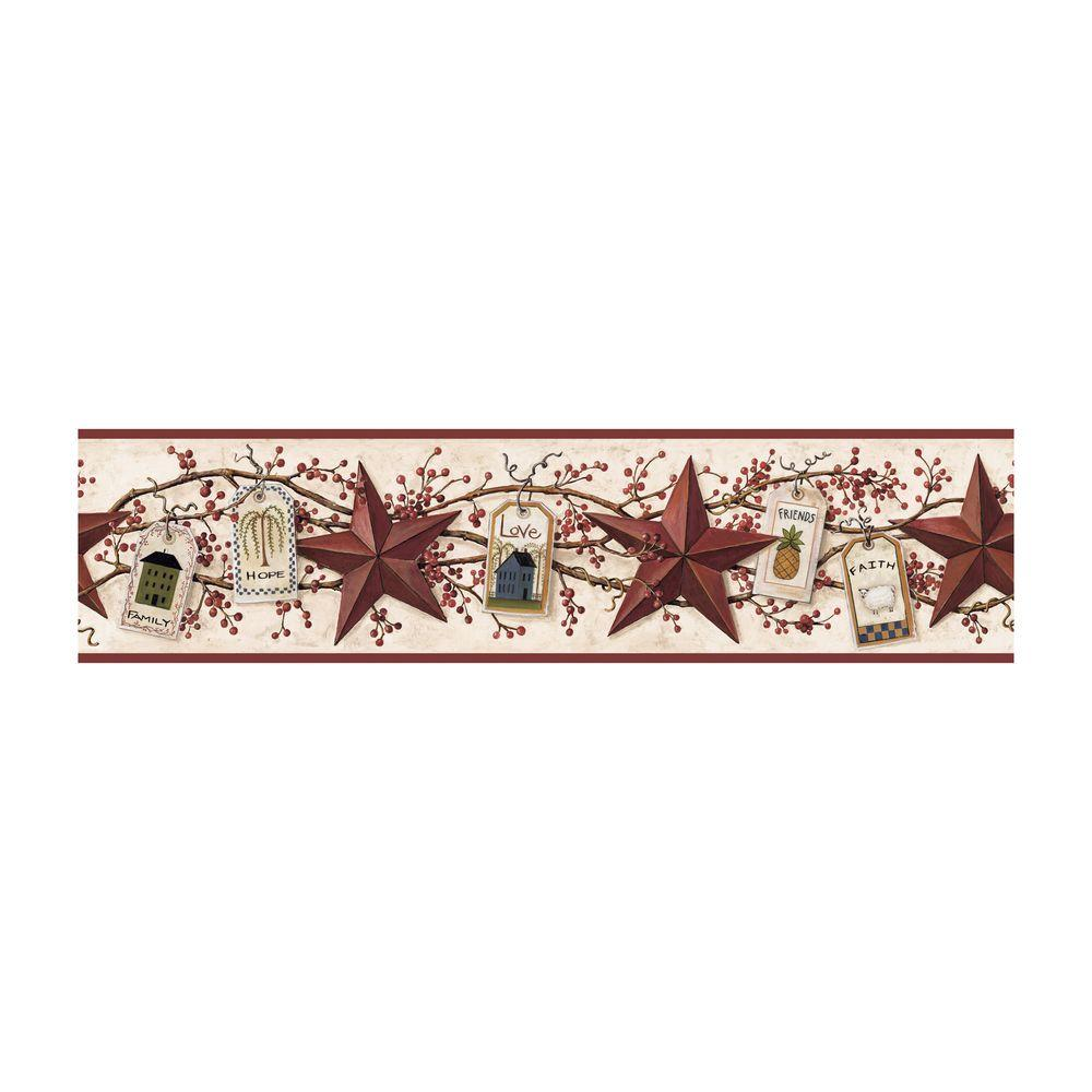 York Wallcoverings 6 in. Stars and Tags Border-DISCONTINUED