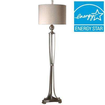 63 in. Brushed Nickel Floor Lamp