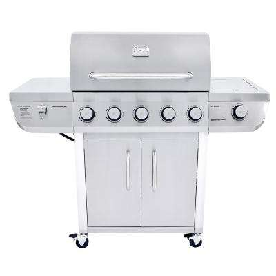 5-Burner Propane Gas Grill in Stainless Steel