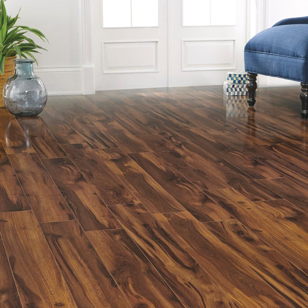 Home Decorators Collection High Gloss Kapolei Koa 12 Mm Thick X 5 9 16 In Wide X 47 3 4 In Length Laminate Flooring 18 45 Sq Ft Case