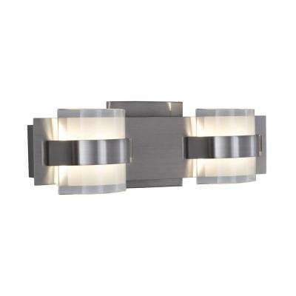 Restraint 2-Light Polished Chrome LED Bath Vanity Light