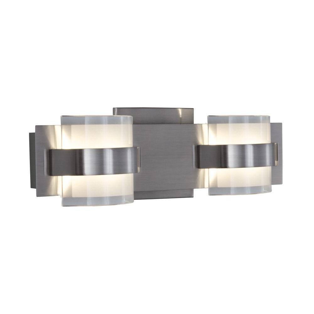 Rogue Decor Restraint 2-Light Polished Chrome LED Bath Vanity Light