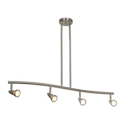 Mirage 4-Light Brushed Steel Bar Pendant