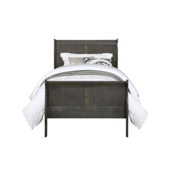 Acme Furniture Louis Philippe Dark Gray Full Bed 26805F