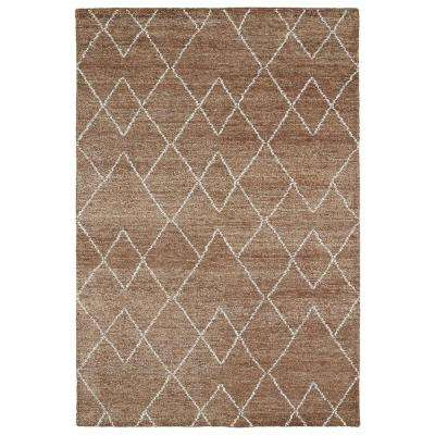 Solitaire Brown 10 ft. x 13 ft. Area Rug