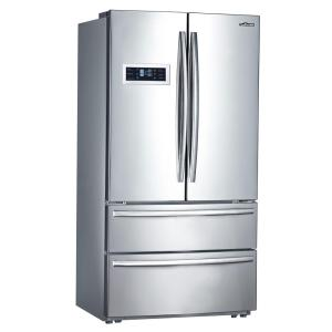 Click here to buy Thor Kitchen Counter Depth 20.85 cu. ft. French Door Refrigerator in Stainless Steel by Thor Kitchen.