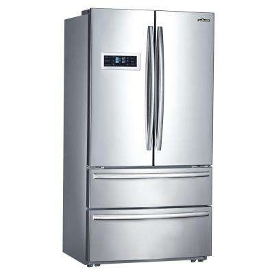 Counter Depth 20.85 cu. ft. French Door Refrigerator in Stainless Steel