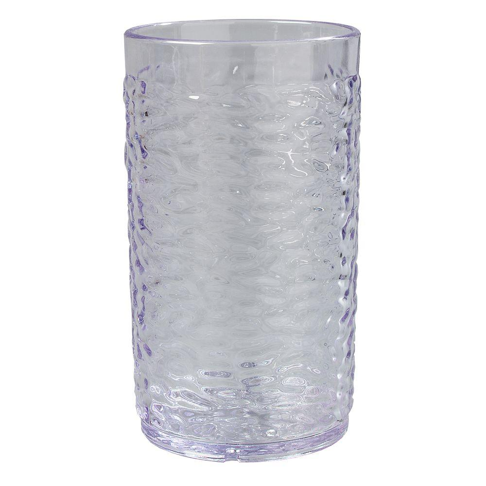 16.7 oz. SAN Plastic Pebble Optic Tumbler in Clear (Case of