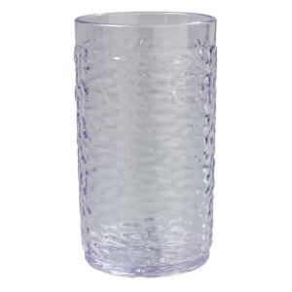 Carlisle 16.7 oz. SAN Plastic Pebble Optic Tumbler in Clear (Case of 24) by Carlisle