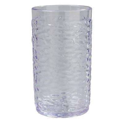 16.7 oz. SAN Plastic Pebble Optic Tumbler in Clear (Case of 24)