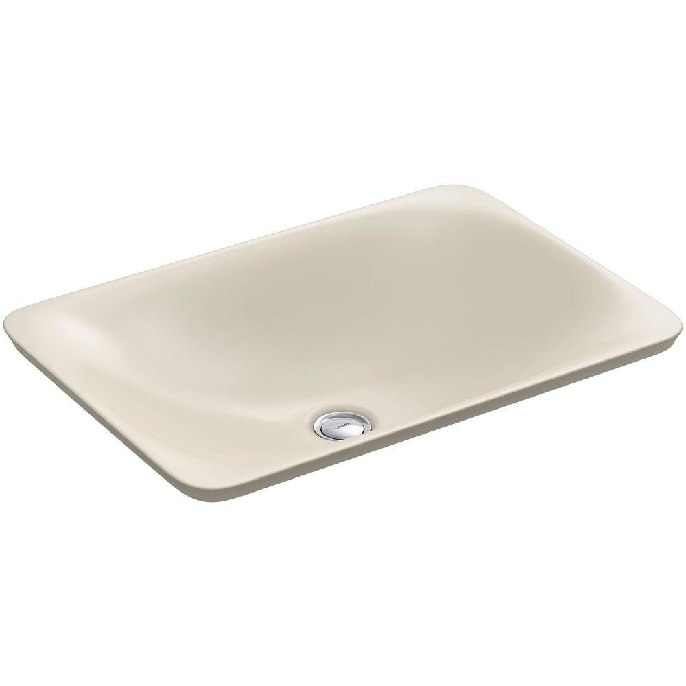 Carillon Wading Pool Above-Counter Vitreous China Bathroom Sink in Almond