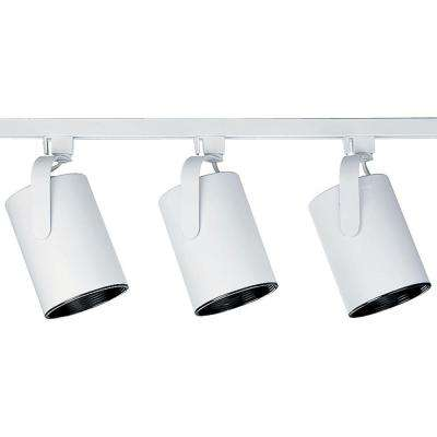 Alpha Trak Collection 3-Light White Track Lighting Kit