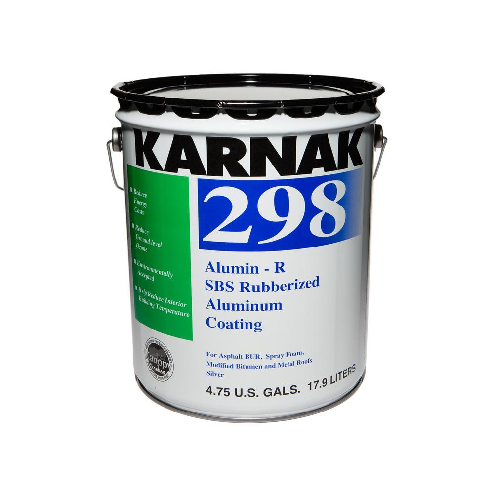 Karnak 5 gal sbs rubberized aluminum asphalt roof coating for New roofing products