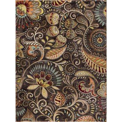 Capri Brown 7 ft. 10 in. x 10 ft. 3 in. Transitional Area Rug