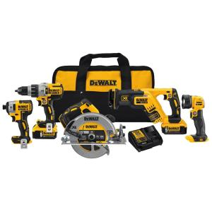 Click here to buy Dewalt 20-Volt Max Lithium Ion Cordless Combo Kit (5-Tool) by DEWALT.
