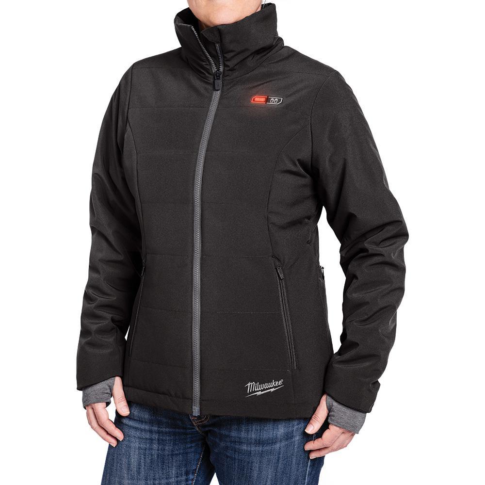 Women's Medium M12 12-Volt Lithium-Ion Cordless Black Heated Jacket (Jacket Only)