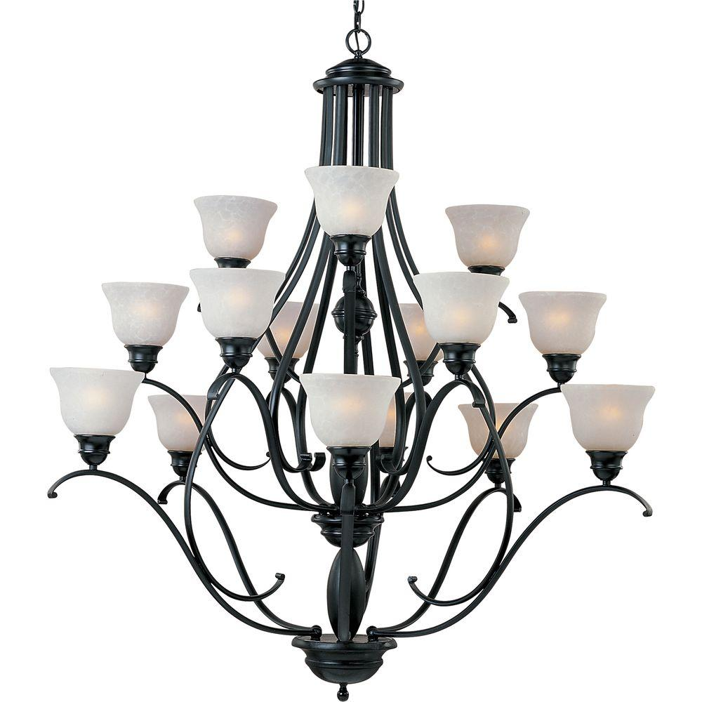 Linda 15-Light Black Chandelier