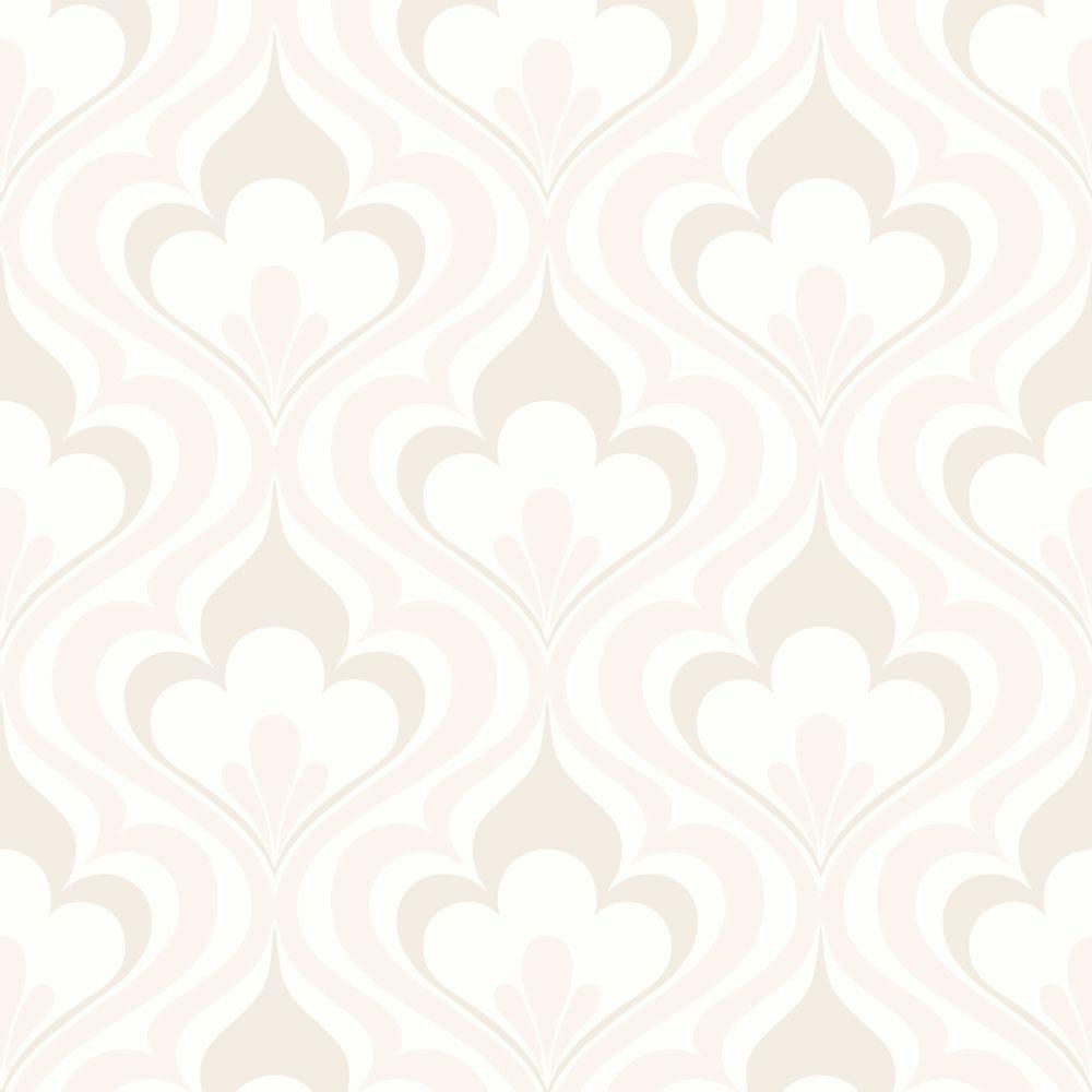 Beacon House Lola Beige Ogee Bargello Wallpaper Sample