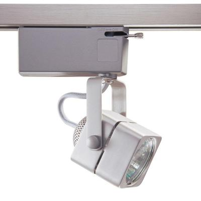 901 Series Low-Voltage MR16 Brushed Steel Soft Square Track Lighting Fixture