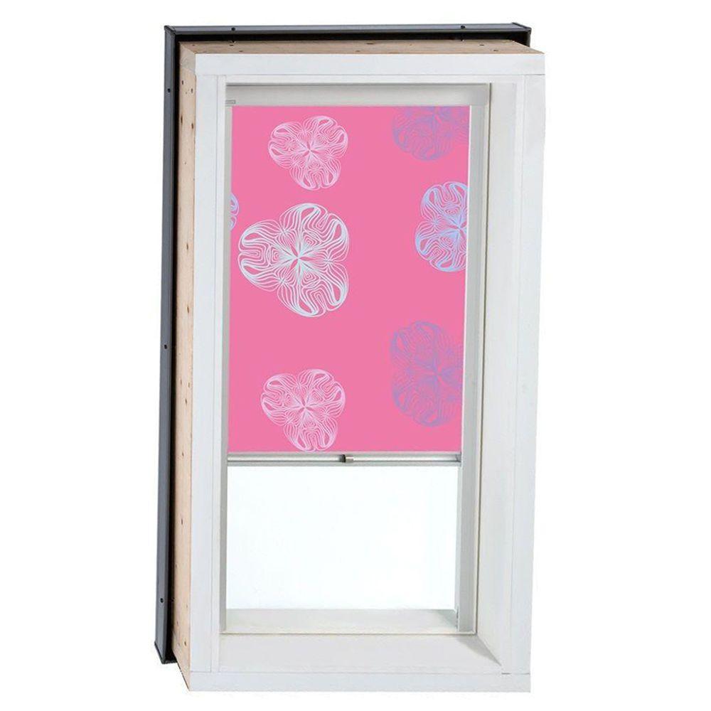 VELUX Nature Pink Solar Powered Blackout Skylight Blinds for FCM/QPF/VCM 4646 Models