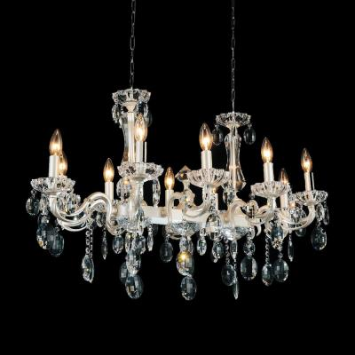 Flawless 10-Light pearl white Chandelier