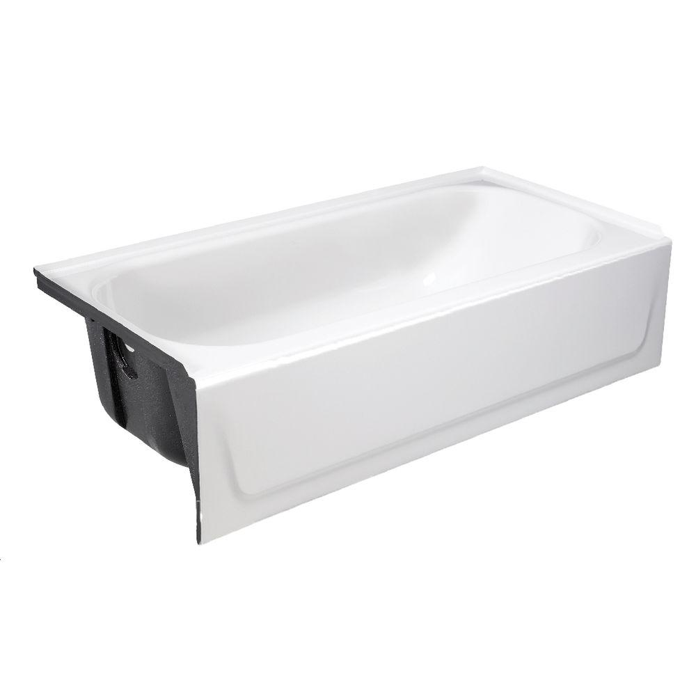 Ordinaire Bootz Industries Mauicast 60 In. Left Drain Rectangular Alcove Soaking  Bathtub In White