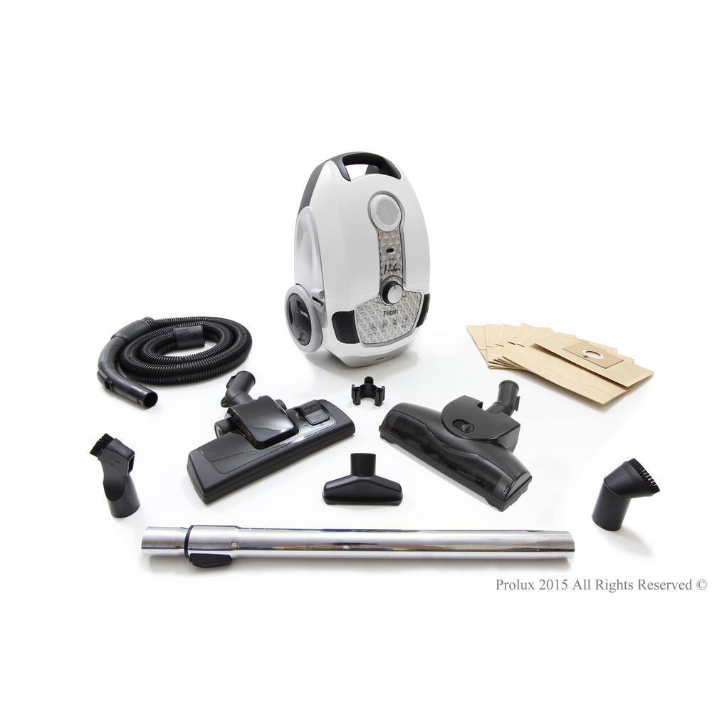 Tritan Canister Vacuum HEPA Sealed Hard Floor Vacuum with Powerful 12 Amp Motor