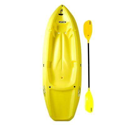 Yellow Youth Wave Kayak with Paddles