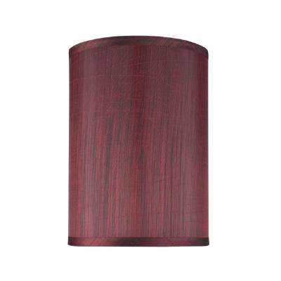 Red lamp shades lamps the home depot dark red hardback drumcylinder lamp shade aloadofball Choice Image