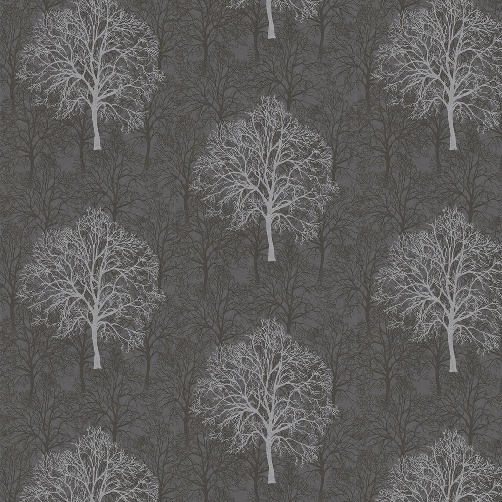 Graham & Brown 56 sq. ft. Enchant Black Wallpaper-DISCONTINUED