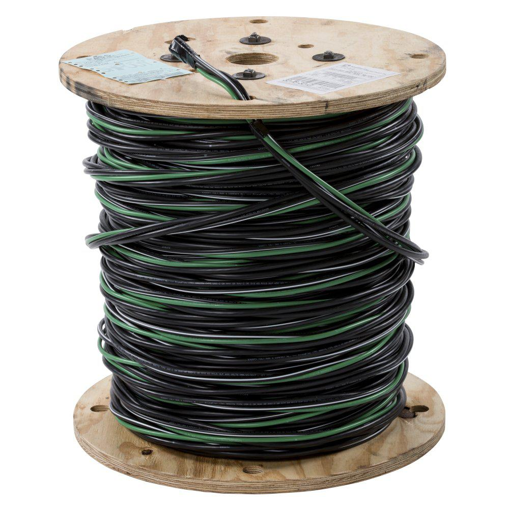 Southwire By The Foot 2 4 Black Stranded Al Quad Dyke Urd Manufactured Mobile Home Underground Electrical Service Under Wiring Cable 55417399 Depot