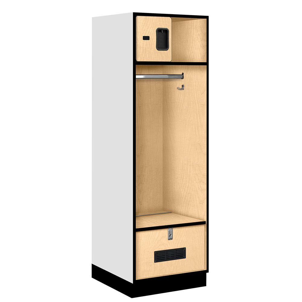Salsbury Industries 30000 Series 24 in. W x 76 in. H x 24 in. D Open Access Designer Wood Locker in Maple
