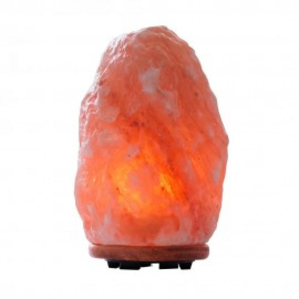 11 in. Hand Carved Natural Crystal Salt Lamp