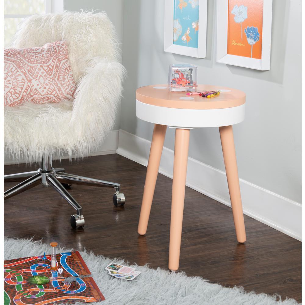 Fannin Orange Side Table