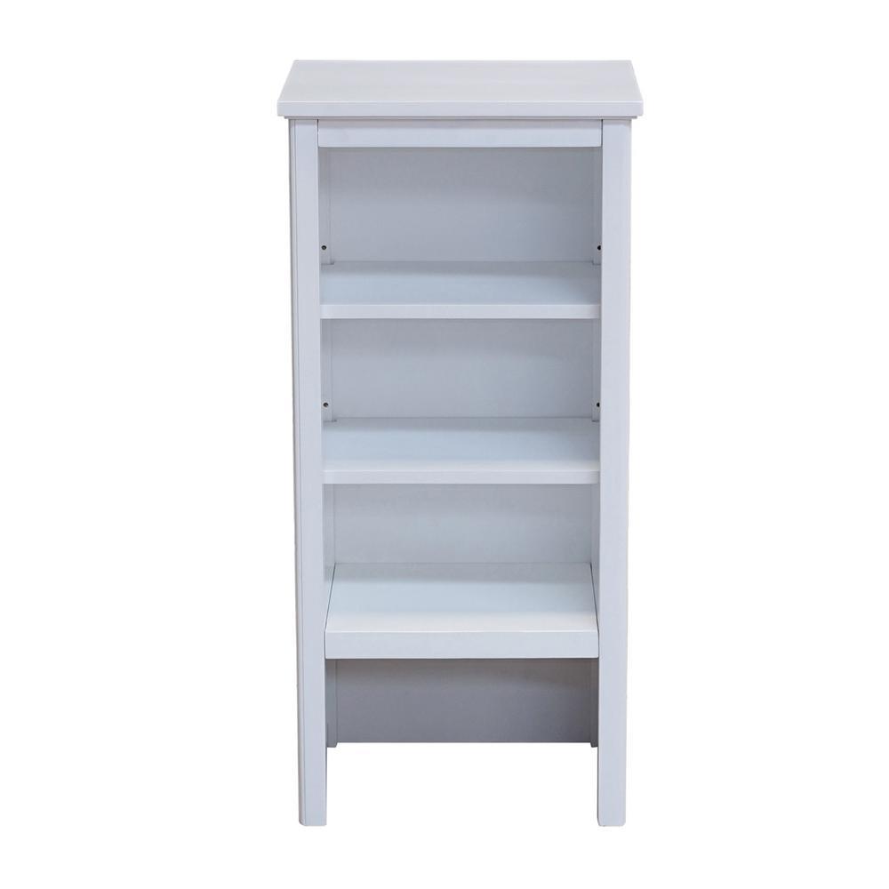 Alaterre Furniture Dorset 17 in. W x 36 in. H Freestanding Shelving Hutch in White