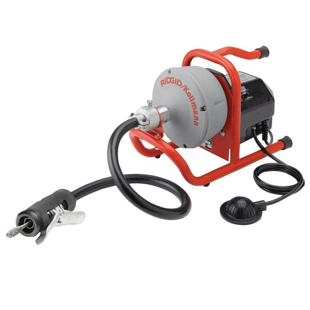 Ridgid 115 Volt K 40af Autofeed Drain Cleaning Machine With C 13 5 16 In Inner Core Speed Bump Cable 71722 The Home Depot